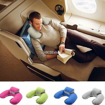 Inflatable U Shape Pillow Neck Head Rest Sleep Air Cushion for Travel Plane