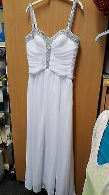 Wedding Dress Jeweled Rhinestone detail size 16