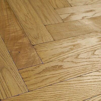 Folk Tumbled & Distressed Herringbone Parquet S16RTO Clear Oak Wood