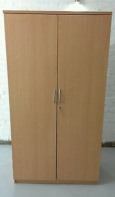 Large Storage Cupboard with Metal Shelves Office Furniture Great Condition