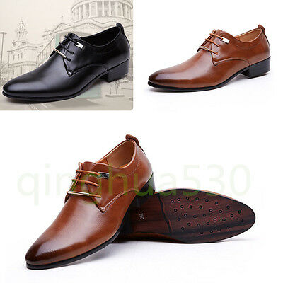 Men's Oxfords Leather Shoes Casual Pointy Business Fashion Wedding Dress Formal