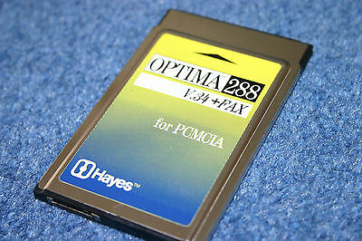 Hayes Optima 288 Fax/Modem/Data V.34 PC Card PCMCIA Laptop 533PAM