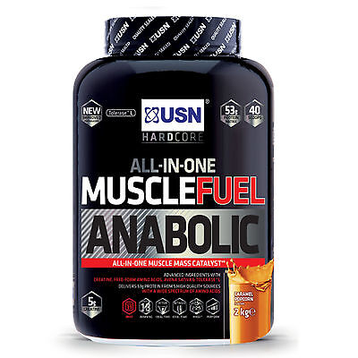 USN Muscle Fuel Anabolic 2kg / 4kg 2000g / 4000g  All Flavours All-In-One Lean