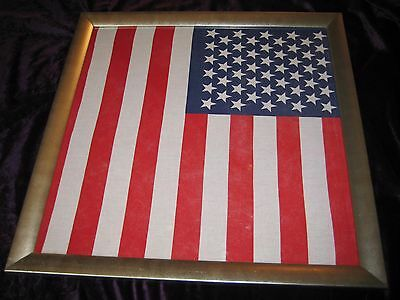 American flag Textile Framed 24 by 24 inches Donald Trump interest!!