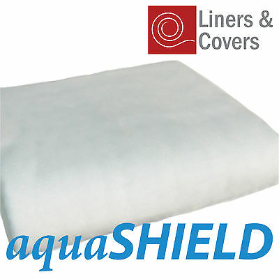 200gsm White Pond Liner Underlay | aquaSHIELD geotextile | Rot Free Protection