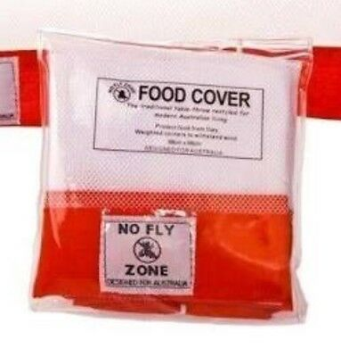 98 X 98Cm No Fly Zone Food Cover Net - Picnic Outdoor Bbq Table Food Free Post