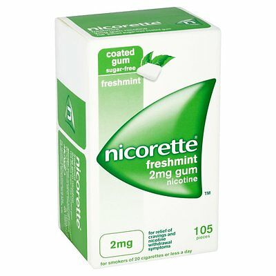 NICORETTE 2mg LOW STRENGTH freshmint sugar free gum - 105 pieces fresh mint