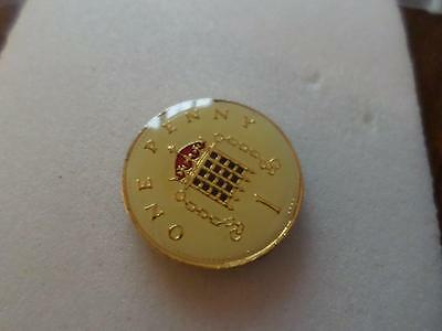 Vintage Enamelled One Penny Coin 1996. Lucky Charm. 21St Birthday Christmas Gift