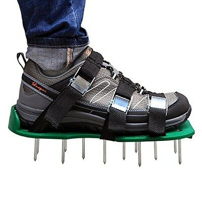 Lawn Aerator Shoes, Autley Lawn Aerator Sandals with 3 Straps, Zinc Alloy Metal