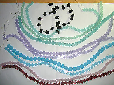 10 strings of pastel shades opaque glass beads (opaque 3)