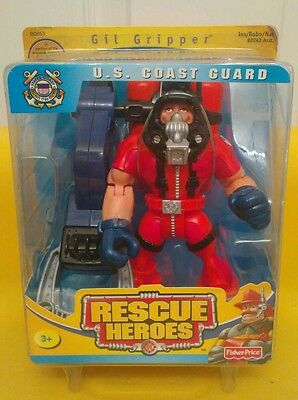 NIB Rescue Heroes Gil Gripper U.S. Coast Guard fisher-price