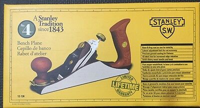 Stanley Sweetheart No. 4 Smoothing Bench Plane 12-136 NEW