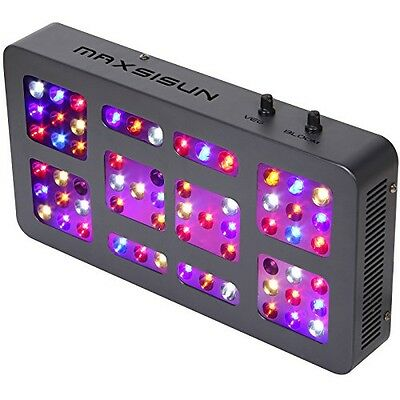 MAXSISUN Dimmable 300W LED Grow Light 12-band Full Spectrum Veg and Bloom