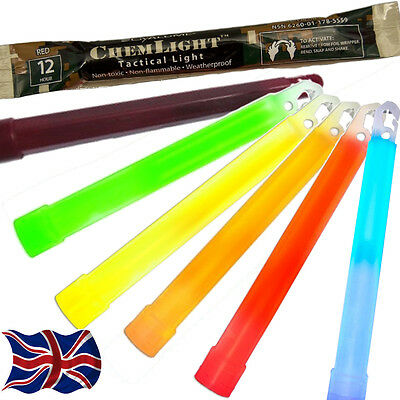 10 x CYALUME CHEMLIGHT MILITARY NATO GLOW STICKS ARMY CHEM SNAP LIGHT LIGHTSTICK