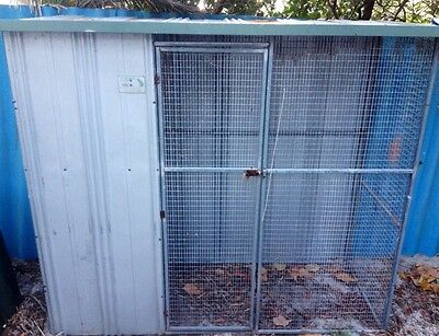 Large, Outdoor steel and wire cat cage