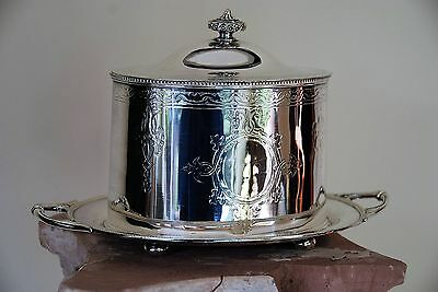 Antique English Silver Biscuit Box Very old Excellent Condition