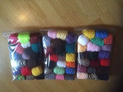 Mixed Job Lot 20 balls 14-16g each Mainly acrylic double knitting wool Yarn