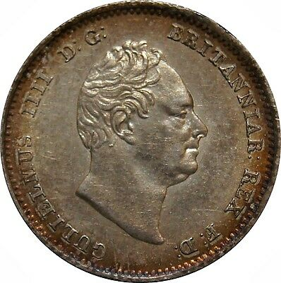 1836 Silver Groat, William IV. Extremely Fine. Spink £ 85
