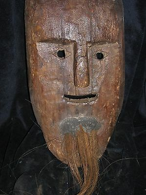 orig $399- RITUAL NEPAL SHAMAN MASK EARLY 1900S 14""