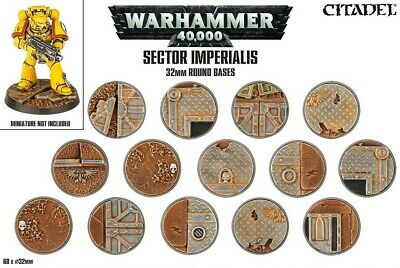 Sector Imperialis - 32mm Round Bases Games Workshop 99120199039 Warhammer 40,000