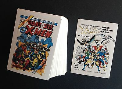 GET BOTH 1990 MARVEL UNCANNY X MEN COVERS SERIES 1 AND 2 COMPLETE SETS + headers