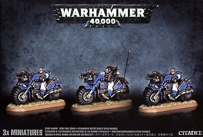 Space Marine Scout Bike Squad Games Workshop 99120101101 Warhammer 40,000 New