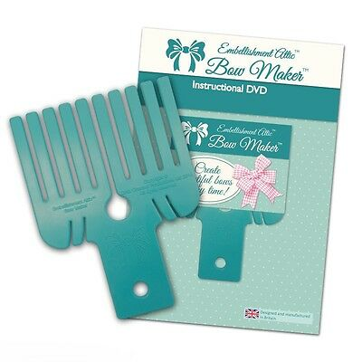 Embellishment Attic Bow Maker and Instructional DVD Creates Double Bows and more