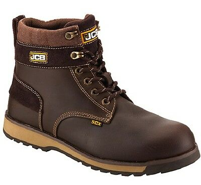 JCB S3 Brown Tan Anti-static Steel toe Midsole Safety Work Boots 5CX/T Size 6-12