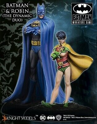 Batman And Robin - The Dynamic Duo Knight Models Batman Miniatures Game DC New