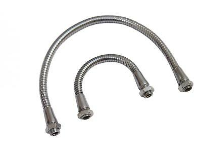 Metal Gooseneck Tube 15/30cm M10 DIY Chrome Cable Flexible Hose