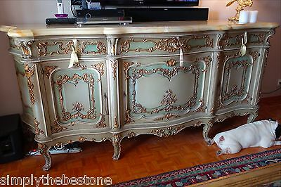 Authentic Buffet Chest Commode Sideboard circa 1870 Venise with Carrara marble