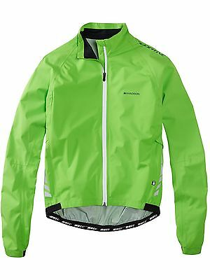 Chaqueta impermeable MTB Madison Sportive Hi Viz Flash-verde