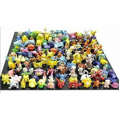 Generic Set of 144 pcs lot Pokemon Action Figures Cute Monster Mini Figures Toys