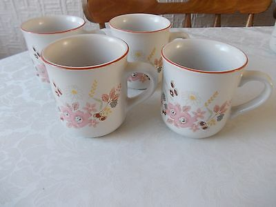 4 Boots hedge rose mugs