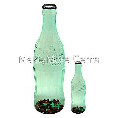"Coke Coca-Cola Coin Bottle Piggy Banks - Giant 23"" & 11"" Bottle Free Shipping"