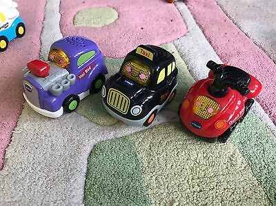 Vtech Toot Toot Drivers Taxi Hot Rod Quad Bike Cars Bundle Vgc