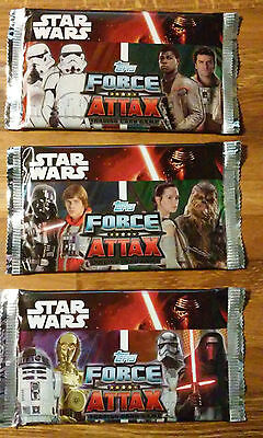 12x booster packs sealed. Force Attax, Star Wars the force awakens.