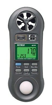 Extech 45170 Hygro-Thermo-Anemometer-Light Meter