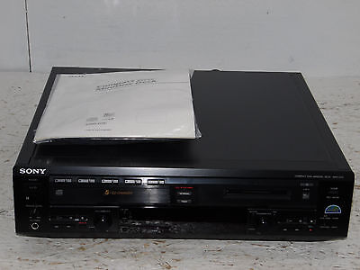 RARE Sony MXD-D5C 5 CD Changer MiniDisc DeckPlayer Recorder remote and manual