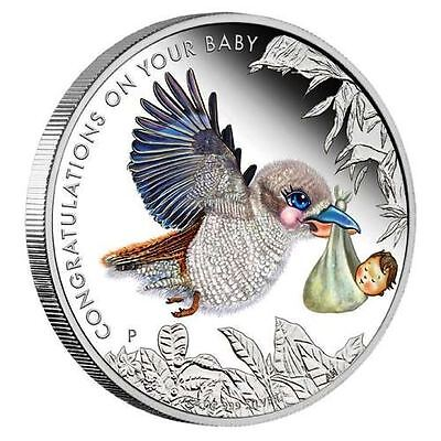 2017 Australia NEWBORN BABY 1/2 oz SIlver Proof 50c Coin Colorized
