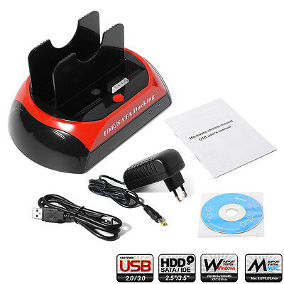 """USB 2.0 Docking Station One Touch Backup for 2.5"""" 3.5"""" SATA IDE Hard Drive AC350"""