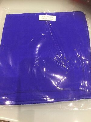 "New Sealed Magician Silk Approx 18"" X 18"" For Magic Tricks BLUE"