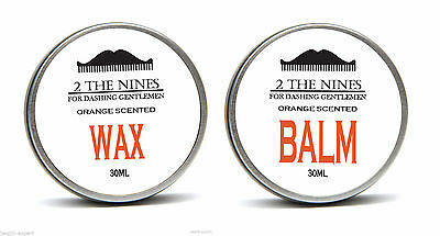 2 The Nines™ Salon 30ml Cire À Moustache & 30ml Barbe Baume - Tangy Orange Kit