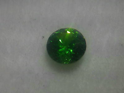 Super rare Russian Demantoid. Extremely strong bright green. 0.3 ct.