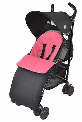 Footmuff / Cosy Toes Compatible with Buggy Pushchair Stroller Pram Dark Pink