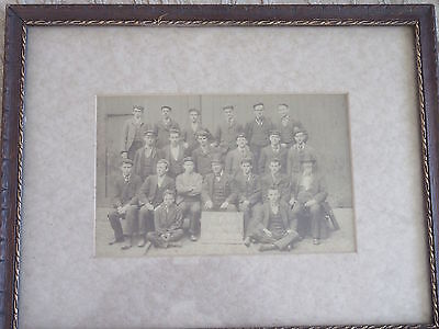 Antique Cabinet Photo C.F.Co Apprentice Pattern Makers Group of Men
