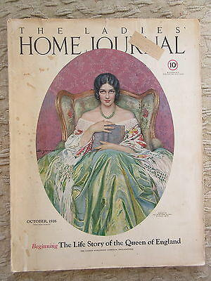 Old October 1926 The Ladies Home Journal Magazine
