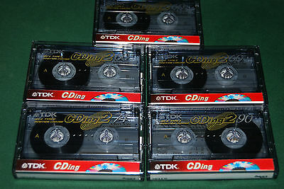 Lote 5 cintas cassette TDK CDing2 CDing CrO2 Cromo Chrome impecables