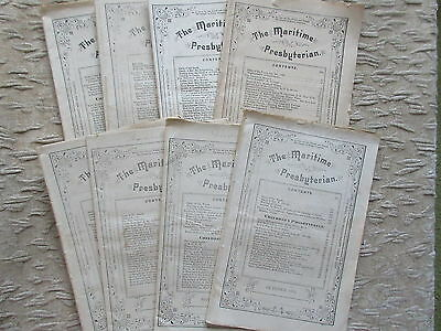 8 Old Issues of The Maritime Presbyterian Magazine Halifax NS