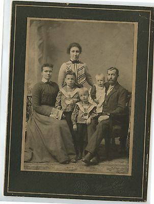 Antique Cabinet Photo Family Children by Thomas Cook New Glasgow Nova Scotia
